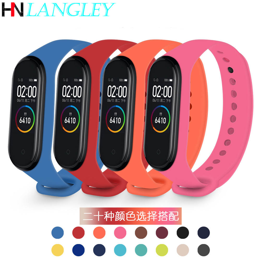 Colorful Mi Band 3 4 Accessories For Miband 4 Strap Replacement Silicone Wriststrap For Xiaomi Mi4 Smart Bracelet Wristband NFC