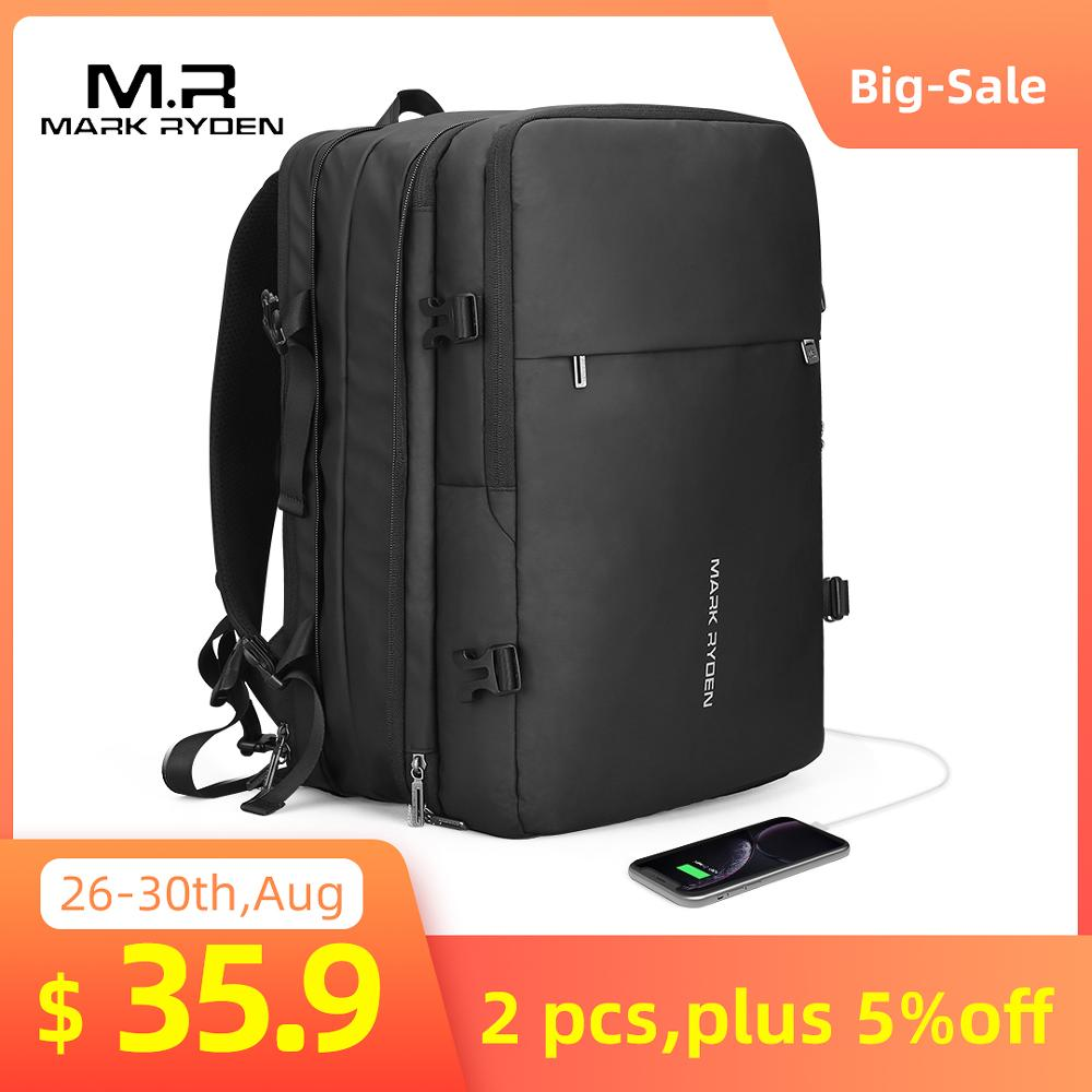 Male Bag Mochila Man Backpack 17inch Laptop Mark-Ryden Anti-Thief Travel Multi-Layer-Space