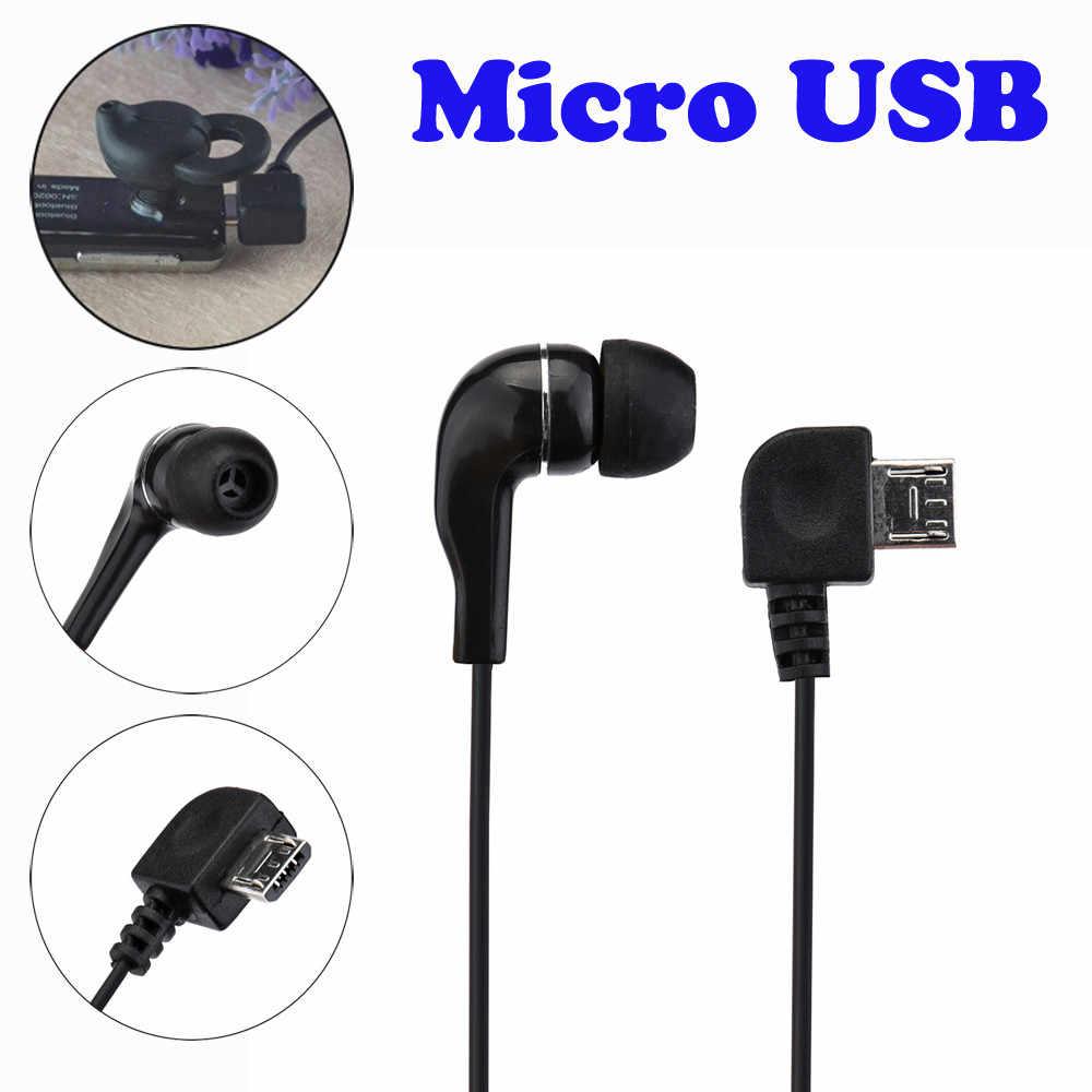 Universal Micro USB Mono solo auriculares estéreo para auriculares Bluetooth auriculares música Durable suave alta elasticidad sonido alto