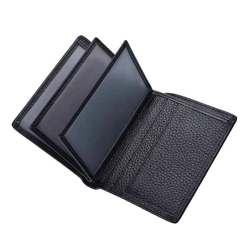 Hot Sale New Men's Short Wallet Head Layer Cowhide Vertical Wallet Leather Driving License Bag Driving Permit Card Holder Wallet
