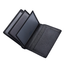 Hot Sale New Men's Short Wallet Head Layer Cowhide Vertical Wallet Leather Driving License Bag Driving Permit Card Holder Wallet 2016 new head layer crazy ma pipi new import two fold leather wallet men s short wallet leather folder hot free shipping