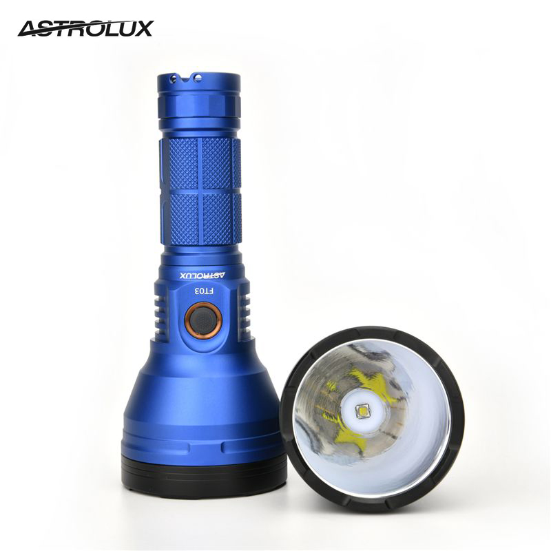 Astrolux FT03 XHP50 2 4300lm 735m Type-C Rechargeable LED Flashlight Black Tactical Ring 18650 Lantern Lamp Torch Spotlight