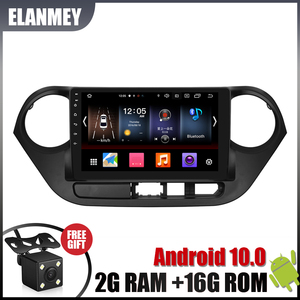 Gift Camera Radio for HYUNDAI i10 LHD 2014-2016 Android 10.0 GPS Navigation Bluetooth Touch screen Car Audio Stereo Multimedia