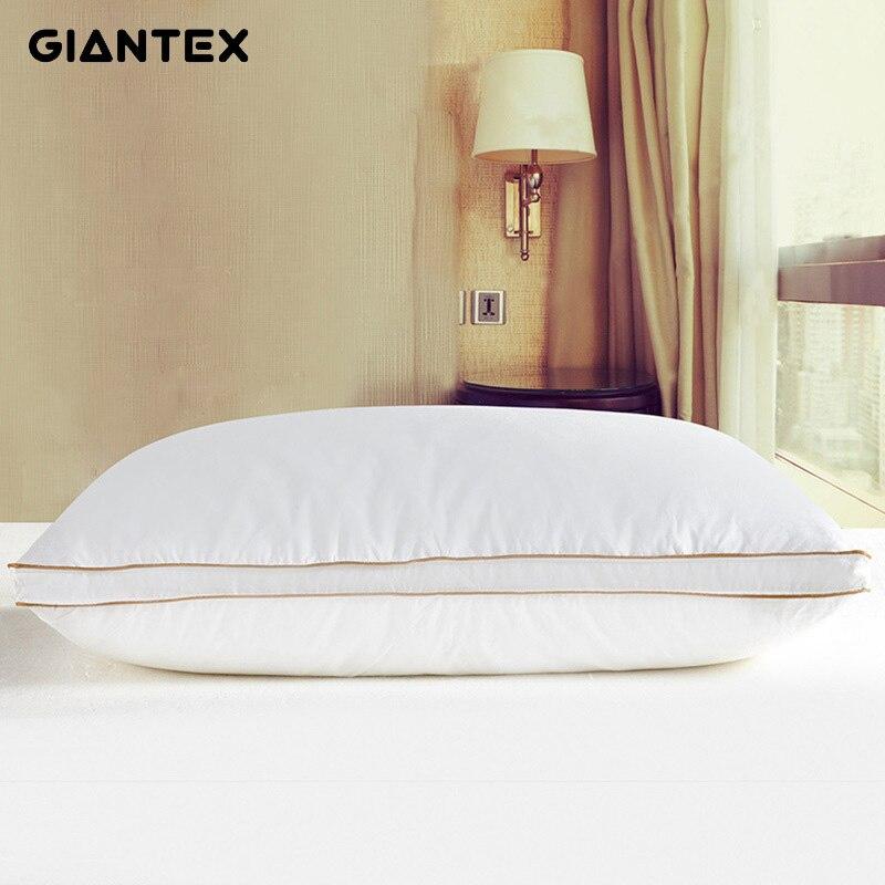 Oreiller en duvet d'oie blanche douce Oreiller de sommeil oreillers Pour dormir Kussens Almohada Oreiller Pour Le Lit Cervical Poduszkap