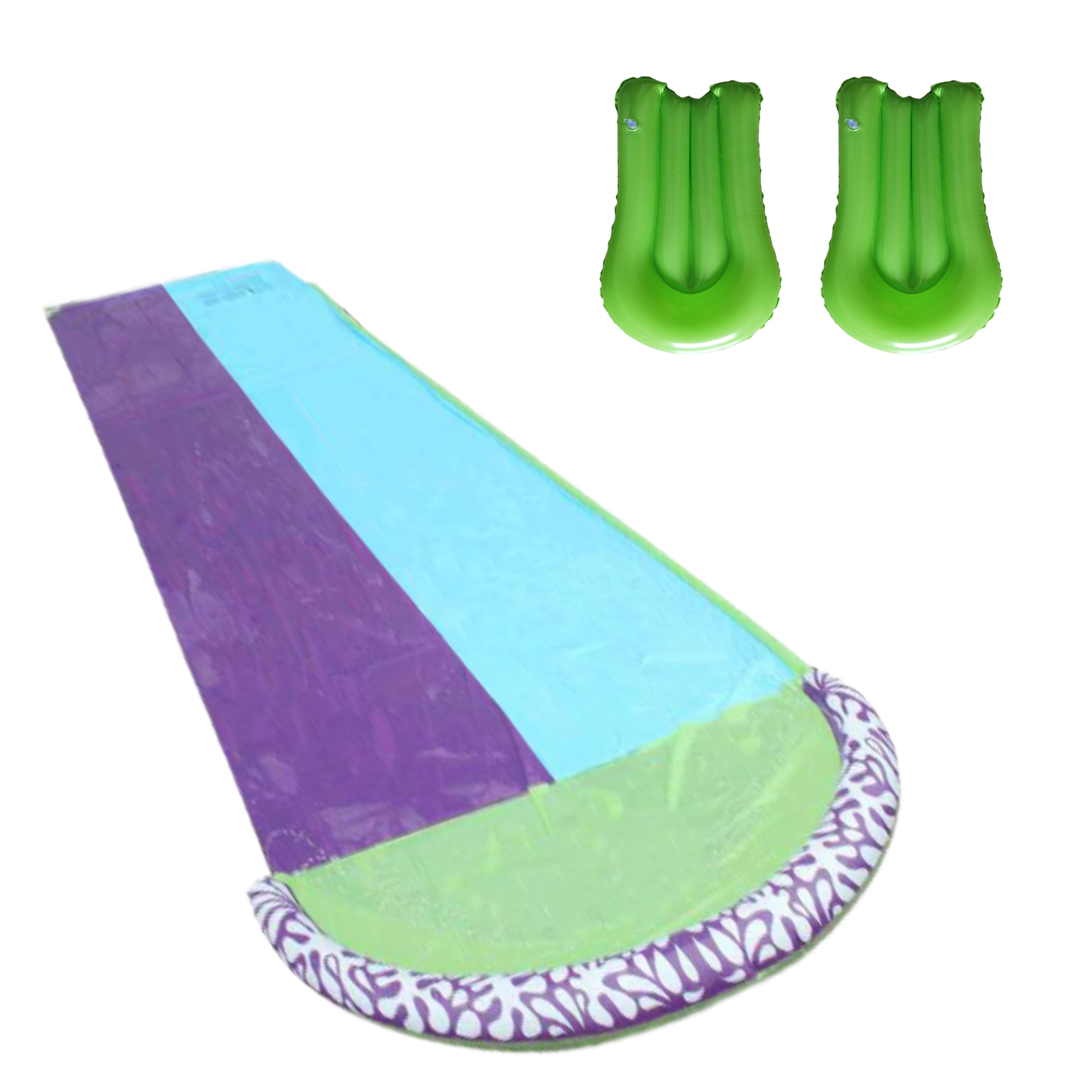 PVC Double Giant Water Water Slide Lawn Water Slide Double PVC Outdoor Water Toy Summer Water Games Center Water Toy For Kids