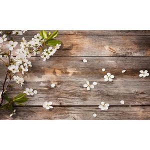 Image 4 - Ahşap zemin fotoğraf arka planında çiçek yeşil bitki tuğla doku arka plan gıda doğum günü bebek duş dekor için fotoğraf stüdyosu