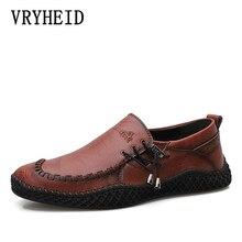 VRYHEID 2020 High Quality Genuine Leather Men Shoes Handmade