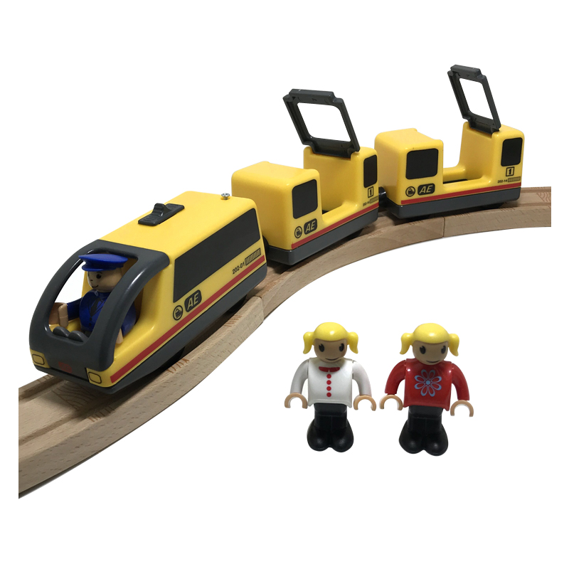 Toys For Boys Combination Of Yellow Electromagnetic Locomotive And Electric Train With Ompatible With BRIO Train Track Free W123