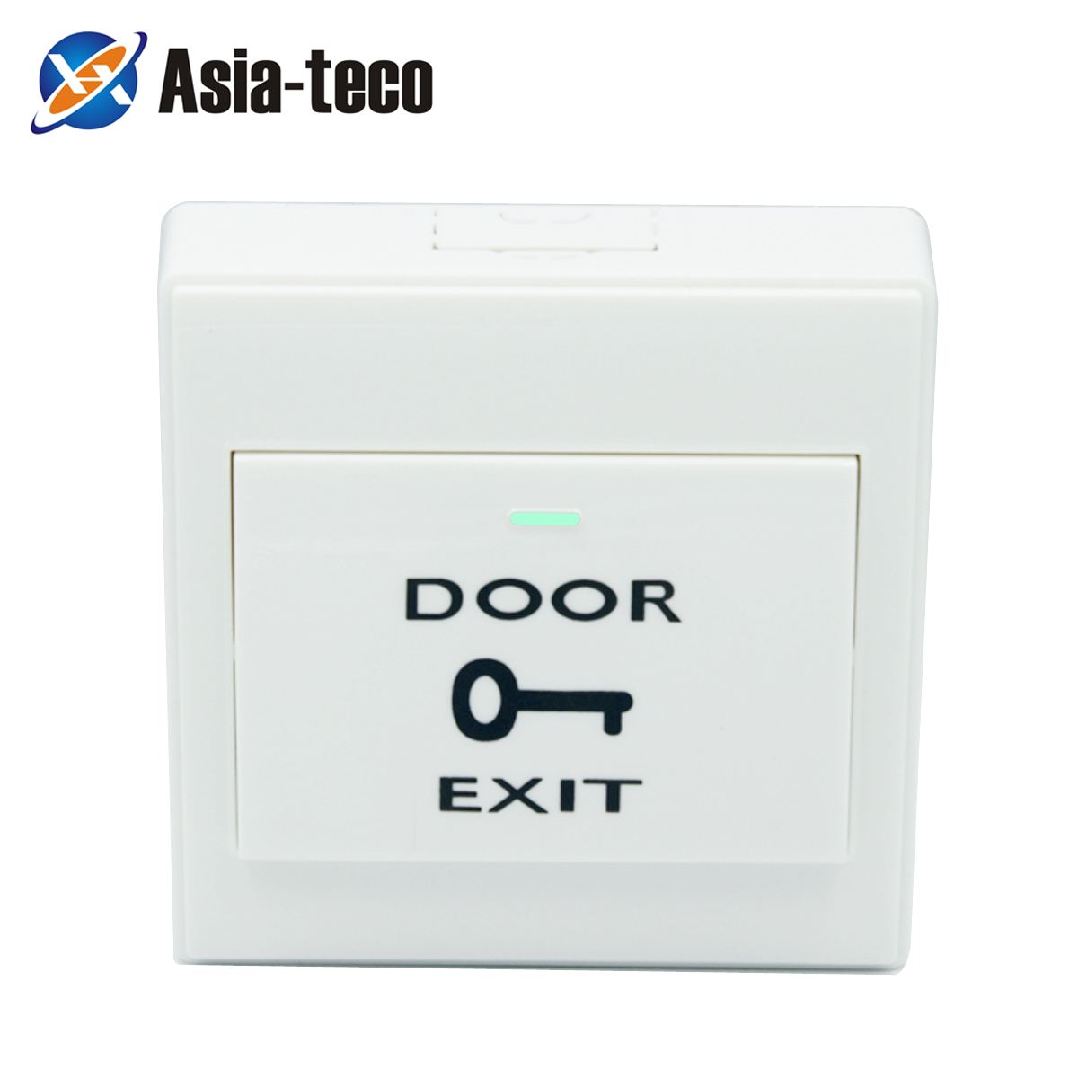 86*86mm DC 12V Push Exit Release Button Switch With Button Box For Door Access Control System Plastic Panel Button