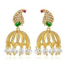 1 пара роскошных кристаллов ретро этнические индийские циркониевый