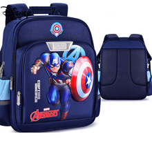 3D  Cartoon Kids School Bag Students Waterproof Backpack Travel Stationery Bags Captain America Boy School Bag 5-14 Years Old