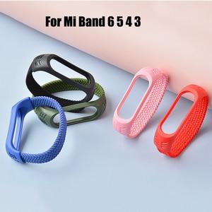 Image 3 - Nylon Braided Strap for Mi band 6 5 4 3 Wristband Sports Breathable Bracelet for Miband 6 5 4 3  Miband6 Miband5 Strap correa