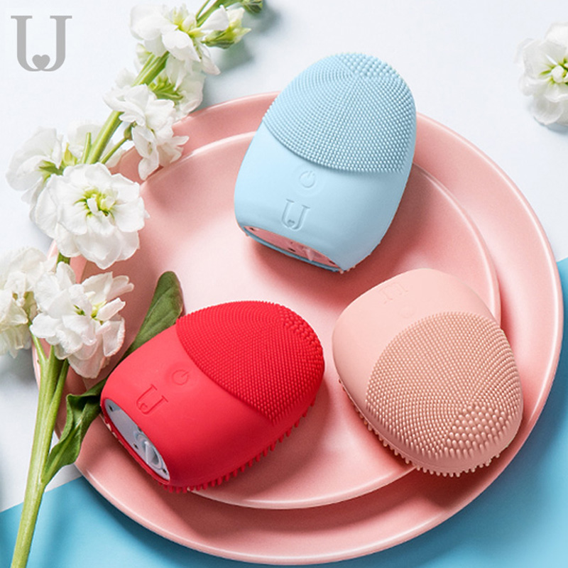 Xiaomi Sonic Facial Cleanser Brush Mini Electric Massage Washing Machine Waterproof Silicone Deeply Face Clean Skin Care Tools