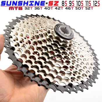 8 9 10 11 12 Speed Cassette 32/36/40/42/46/50/52T Wide Ratio Freewheel Mountain Bike MTB Bicycle Cassette Sprocket For Shimano image