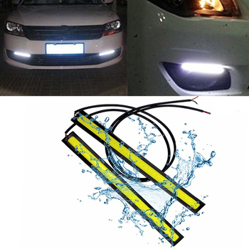 2 Pcs 17CM Universal Waterproof Daytime Running Lights COB Fog Lamp Car Styling Led Daytime Lamp Car Led Day Light DRL Lamp image