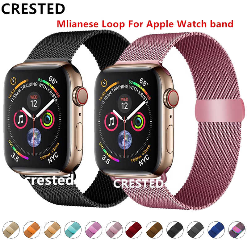 Strap For Apple Watch band Milanese Loop apple watch 4 3 band iwatch band 42mm 38mm correa 44mm/40mm pulseira watchband bracelet