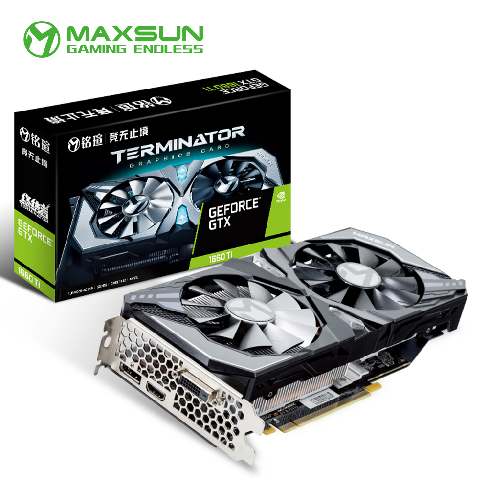 Maxsun GeForce GTX 1660 Ti 6G Graphic Card Nvidia GDDR6 GPU Gaming Video Card video For PC image