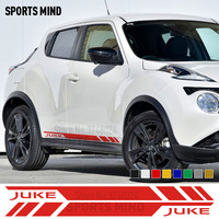 1 Pair Vinyl Car Door Side Stripe Stickers Decals JDM For Nissan Juke R Nismo Exterior Accessories Automobiles Car Styling