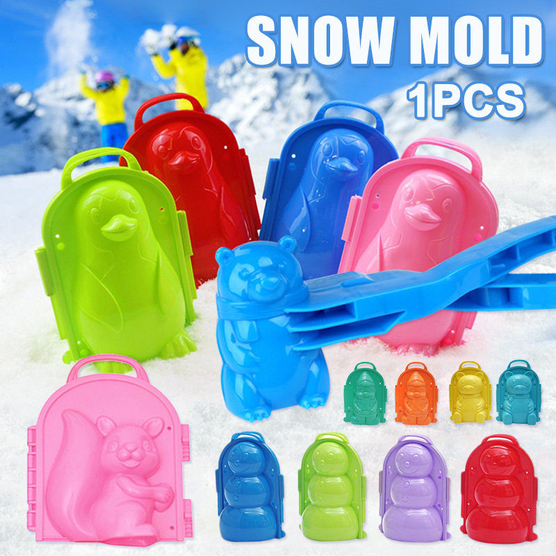 2019 Hot Snow Mold Snowball Maker Clip Snow Sand Mould Tool Toy For Children Kids Outdoor Winter Random Color L5