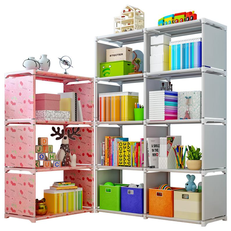 Iron Frame Plastic Assembly Splicing Removable Simple Bookshelf Deepen Shelf Economic Students Simple Bookcase