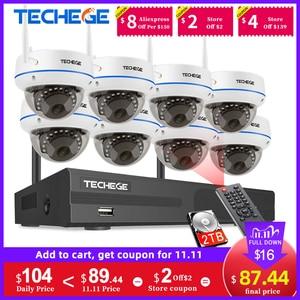Image 1 - Techege 1080P Wireless CCTV Security Camera System 8CH WiFi NVR Kit Vandalproof Dome IP Camera Indoor P2P Video Surveillance Set