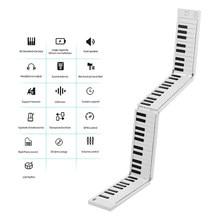 MIDIPLUS-بيانو إلكتروني قابل للطي مع 88 مفتاحًا ، لوحة مفاتيح محمولة ، 128 نغمات ، إيقاع ، 30 أغنية تجريبية ، بطارية مدمجة مع دواسة دعم