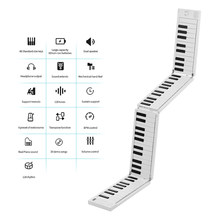MIDIPLUS 88 مفاتيح قابلة للطي الإلكترونية البيانو لوحة المفاتيح المحمولة 128 نغمات إيقاع 30 الأغاني التجريبي المدمج في البطارية مع دواسة الحفاظ