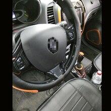 Для Renault Captur 2013- высокое качество ABS углеродное волокно Кнопка рулевого колеса Блестки молдинг крышка отделка Аксессуары 2 шт