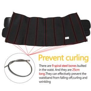 Image 5 - Корсет для похудения со стальными костями, массажный пояс с эффектом сауны, для занятий спортом, для женщин
