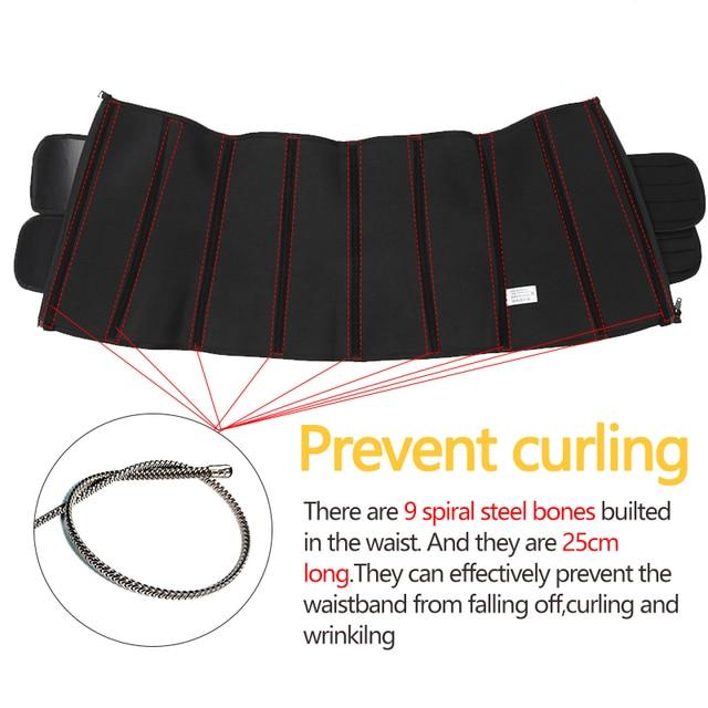 Women Waist Trainer Corset Sauna Sweat Faja Sport Girdle Slimming Shaper Abdominal Trimmer Belt Straps Modeling Black Plus Size 4
