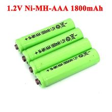 Piles NI-Mh, 1.2v, 1800mAh, rechargeables, AAA, pour voiture électrique télécommandée, jouet RC ues, 1.2V