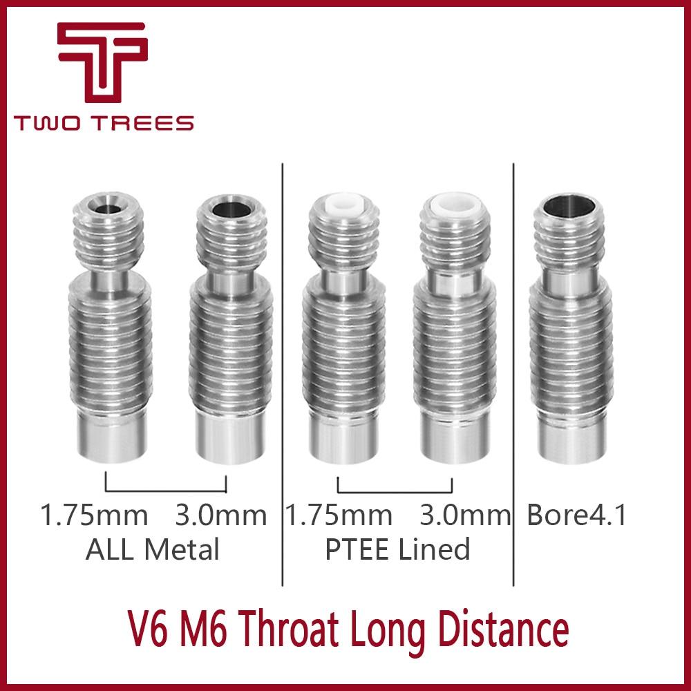 5pcs V6 Heat Break Hotend Throat Teflon Tube for 1.75mm Filament 3D Printer