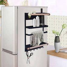 Кухонная стойка на холодильник, магнитный Органайзер-дизайнерский бумажный держатель для полотенец, ржавеющая подставка для банок специй, сверхпрочная полка для холодильника St