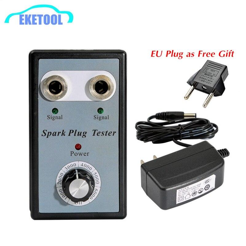 Car Spark Plug Tester Adjustable Double Hole Power Adapter Detector Ignotion Plug Analuzer Two Spark Plugs EU Plug As  Free Gift