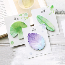 30 Sheets/Pack Cute Leaves Sticky Note Creative Memo Sheets Adhesive Memo Pad Bookmark Planner Schedule Paper Sticker Stationery