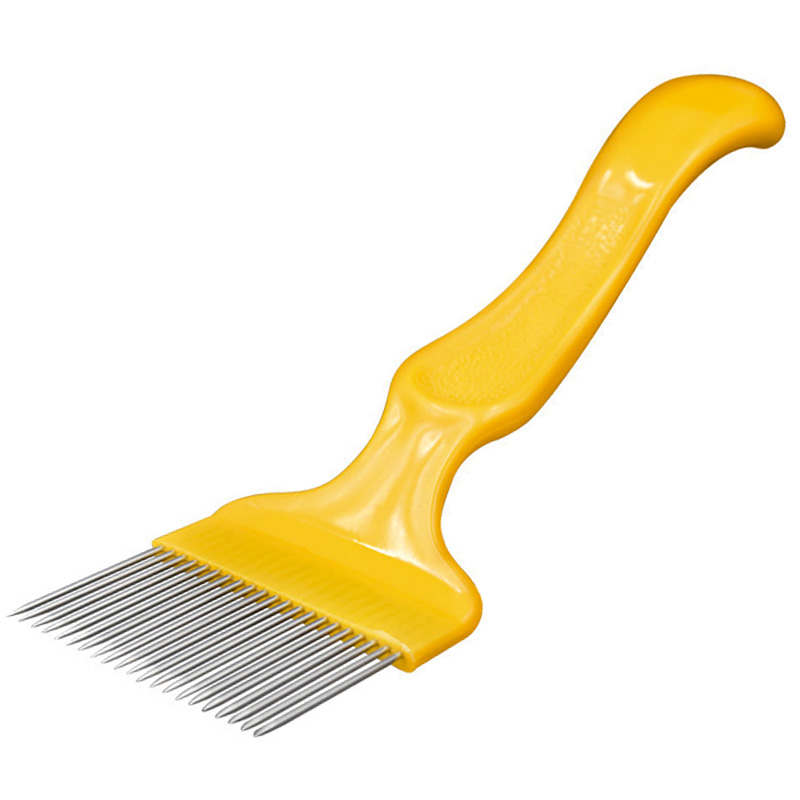 Beekeeping Tools 21 Pin Straight Needles Uncapping Forks Handle Stainless Steel Honey Sparse Rake Shovel Comb Bee Equipment