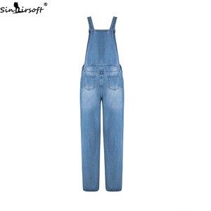Image 3 - Plus Size 5XL Jeans Women Florals Printing Denim Jumpsuits Rompers Female Slim Suspender Trousers Women Loose Overalls Jumpsuit