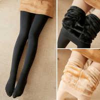 Inverno quente outono sexy mulher collants calças elásticas grossas meias de veludo meias de algodão senhora feminina collant medias