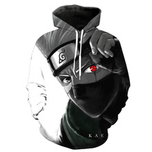3D Naruto Hoodies Men/women Fashion Hot High Quality Streetwear Sasuke kakashi 3