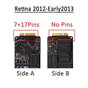 """Image 2 - Genuíno para macbook pro retina 13 """"a1425 15"""" a1398 lâmina ssd unidade de estado sólido 128gb 256gb 512gb 768gb tarde/meados 2012 início 2013"""