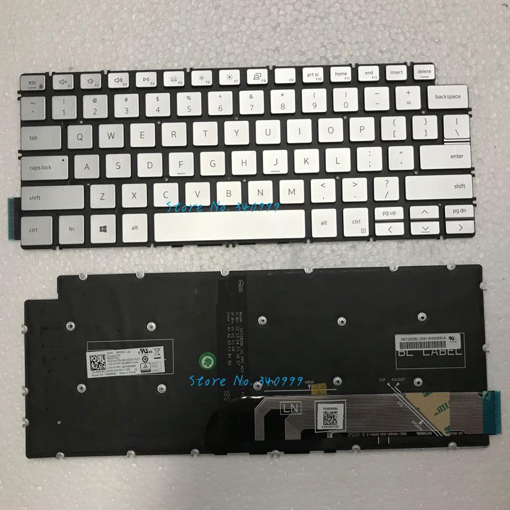 NEW US keyboard for <font><b>Dell</b></font> VOSTRO 5490 5491 5390 5391 7391 7491 5498 <font><b>7490</b></font> 5493 Backlit silver image