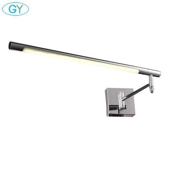 LED Mirror Front Light Toilet Makeup Lamp Waterproof Anti-fog Mirror Light Stretch Adjustment Side Mount Cabinet Mirror Lamp