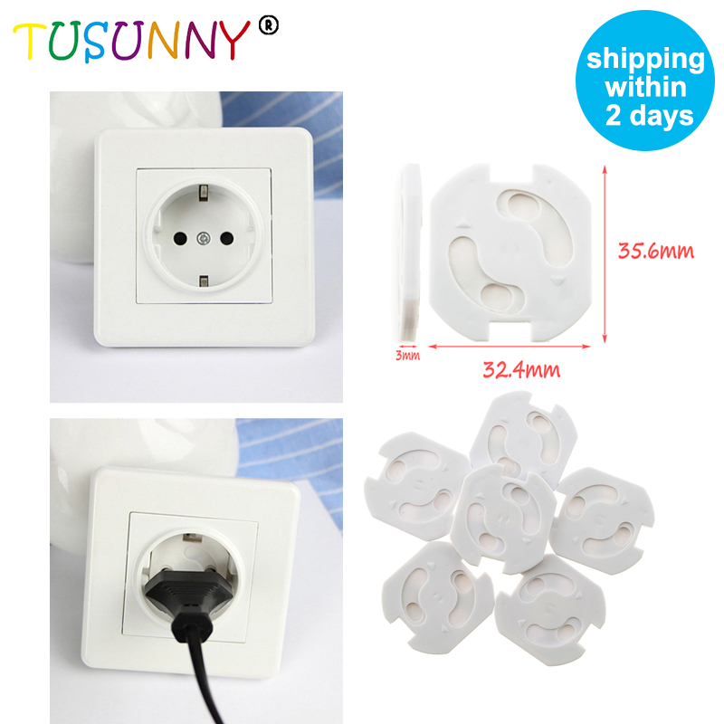 TUSUNNY 10pcs European Standard Baby Safety Socket Cover Children Electric Protection Plugs In Sockets For Socket Security Cover