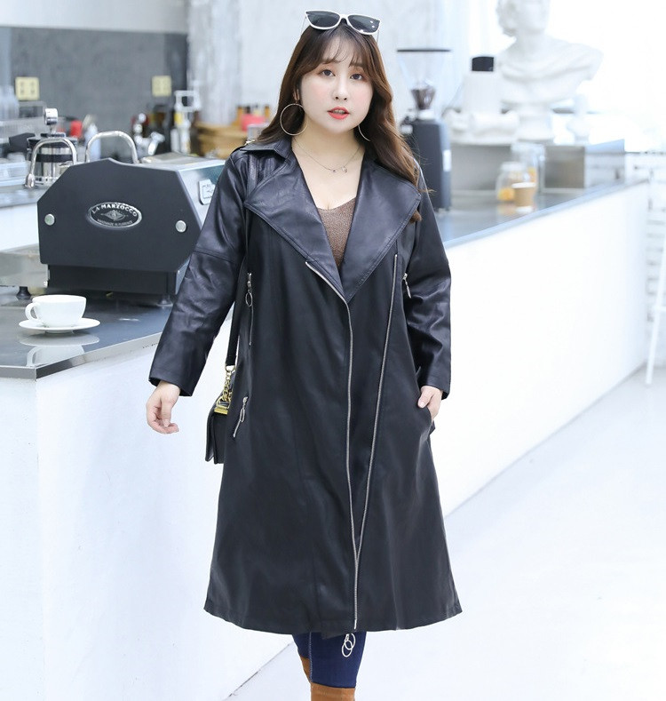 Women Jacket Fashion Short Slim PU Leather Coat Zipper Autumn Tops Overcoat Black Outwear