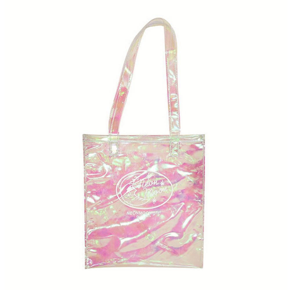 Girl Hologram Laser Handbag Transparent Candy Shoulder Bag Waterproof Beach Bag in Shoulder Bags from Luggage Bags