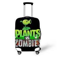 Чехол для багажа haoyun путешествий с принтом растения зомби