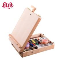 Деревянный мольберт для рисования эскиз мольберт для рисования стол коробка масляная краска аксессуары для ноутбука краски товары для рукоделия для детей художников