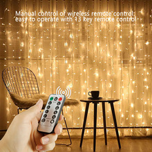 LED Christmas Fairy String Lights Remote Control USB New Year Garland Curtain Lamp Holiday
