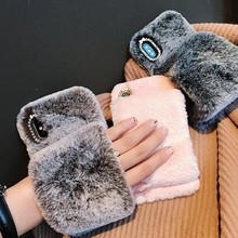 S10 5G Warm Fur Case for Samaung Galaxy S10 Plus S8 S9 Plus S10E S6 S7 Edge Plus S10 Lite S3 S4 S5 Mini Lovely Phone Case Cover(China)