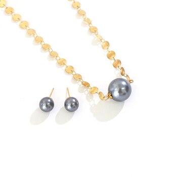 Say Hello Polynesian Hawaiano Samoa Estilo Vintage gris perlas encanto colgante collar...